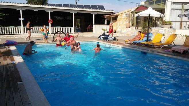 animácie satur planet fun vodný deň v hoteli ionian sea kefalónia