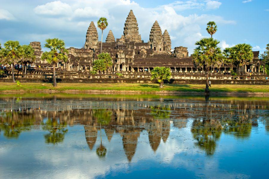 Jeden z najväčších divov sveta Angkor Wat.