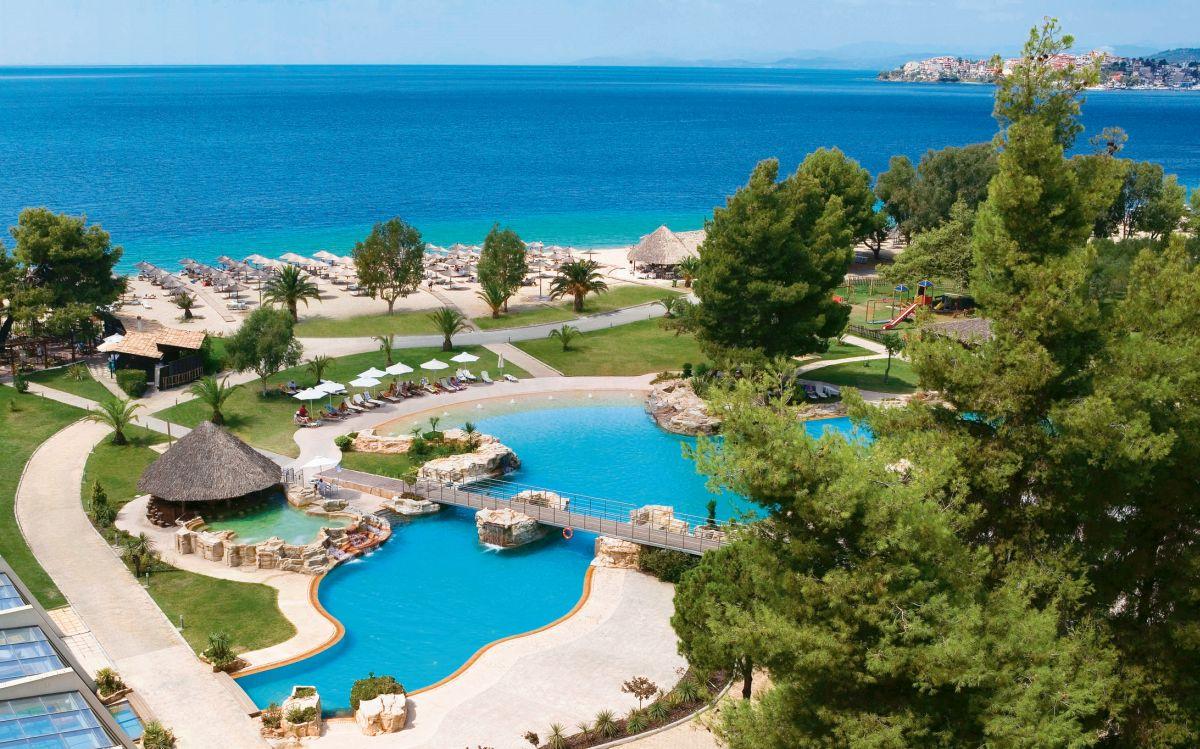 Hotel Meliton na Chalkidiki je jedným z veľkých lákadiel.