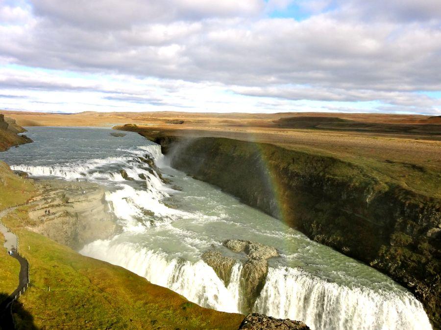 vodopad gullfoss, island, ostrov, poznavanie, poznavacie zajazdy, poznavaci zajazd, satur