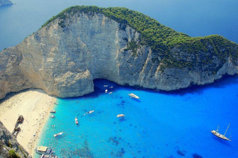 zakyntos, plaz, grecko, letna dovolenka v grecku, letna dovolenka pri mori, satur