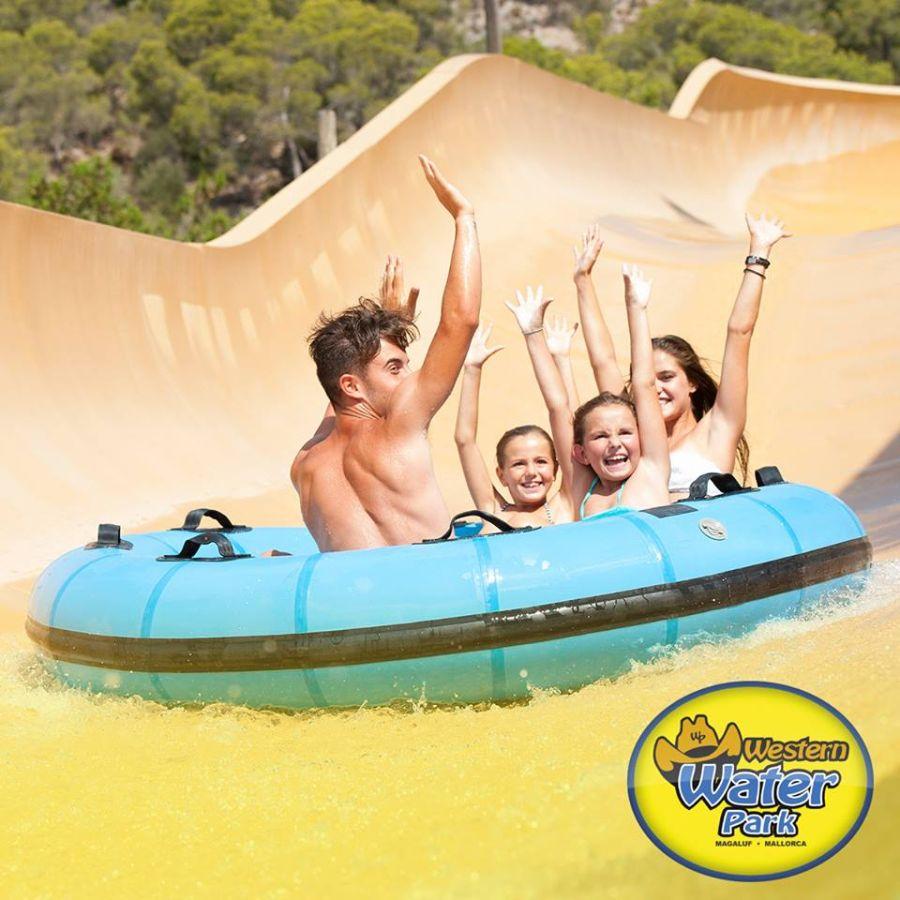 aquapark, magaluf, malorka, letna dovolenka na malorke, letna dovolenka pri mori, satur