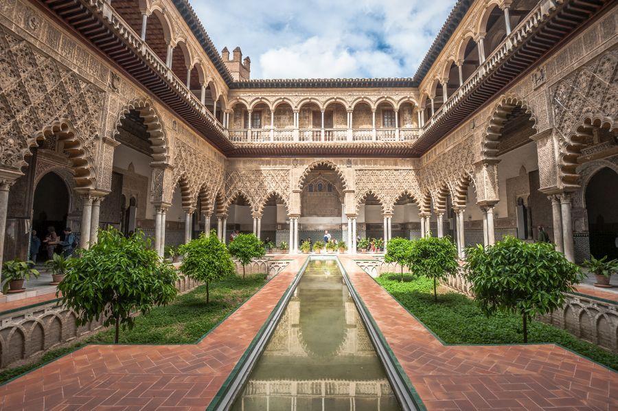 alcazar, sevilla, spanielsko, andaluzia, letna dovolenka pri mori, letna dovolenka v spanielsku, poznavacka, poznavaci zajazd, satur