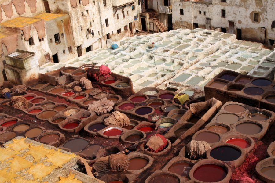 maroko, dovolenka v maroku, orient, dovolenka v oriente, poznavaci zajazd, satur, fez, garbiarne, farbenie kozi