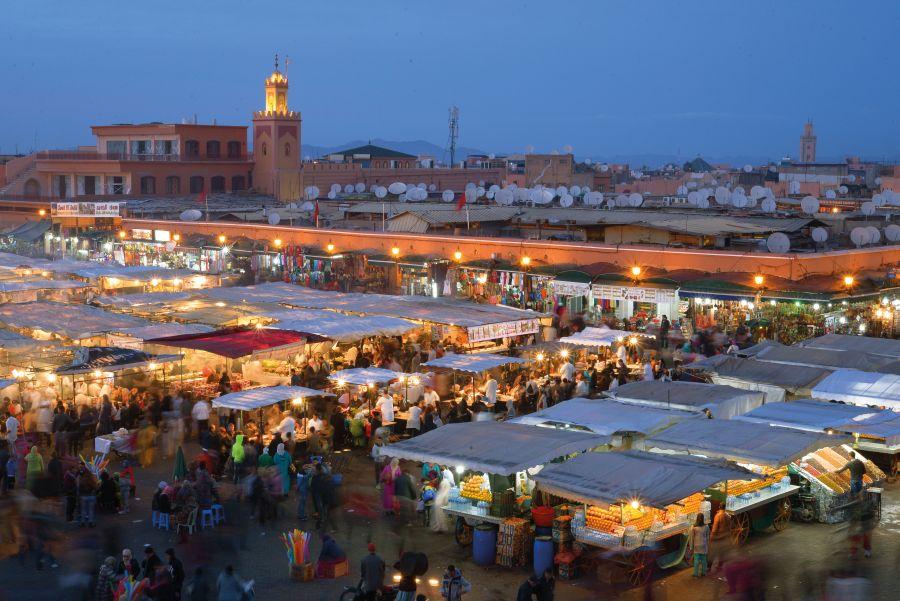 maroko, dovolenka v maroku, orient, dovolenka v oriente, poznavaci zajazd, satur, marakes, trh, dzemaa el fna, trhovisko
