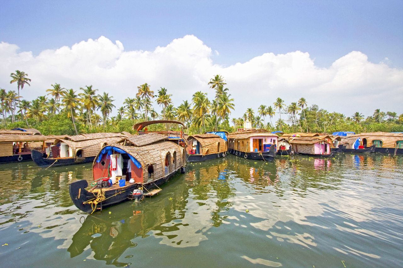 backwaters lodka v kerale