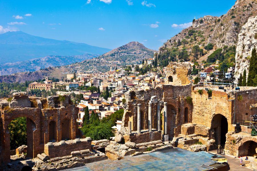 taormina, taliansko, sicilia, letna dovolenka na sicilii, satur