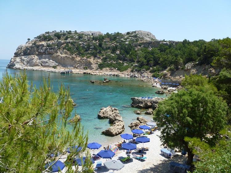plaz anthony quinn na rodose v grecku