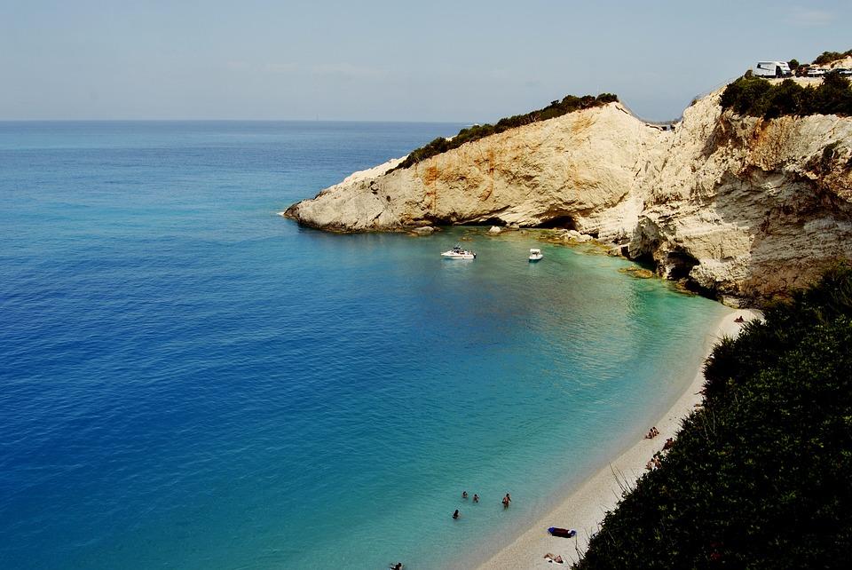 plaz porto katsiki na lefkade v grecku