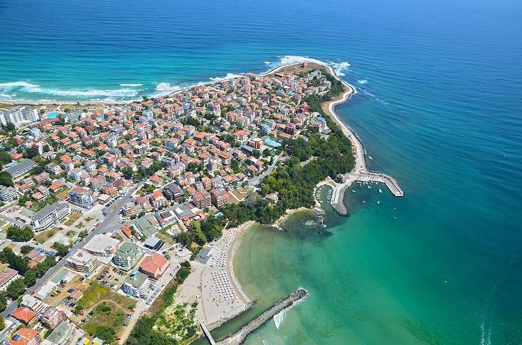 primorsko, bulharsko, more, plaz, dovolenka bulharsko, ck satur