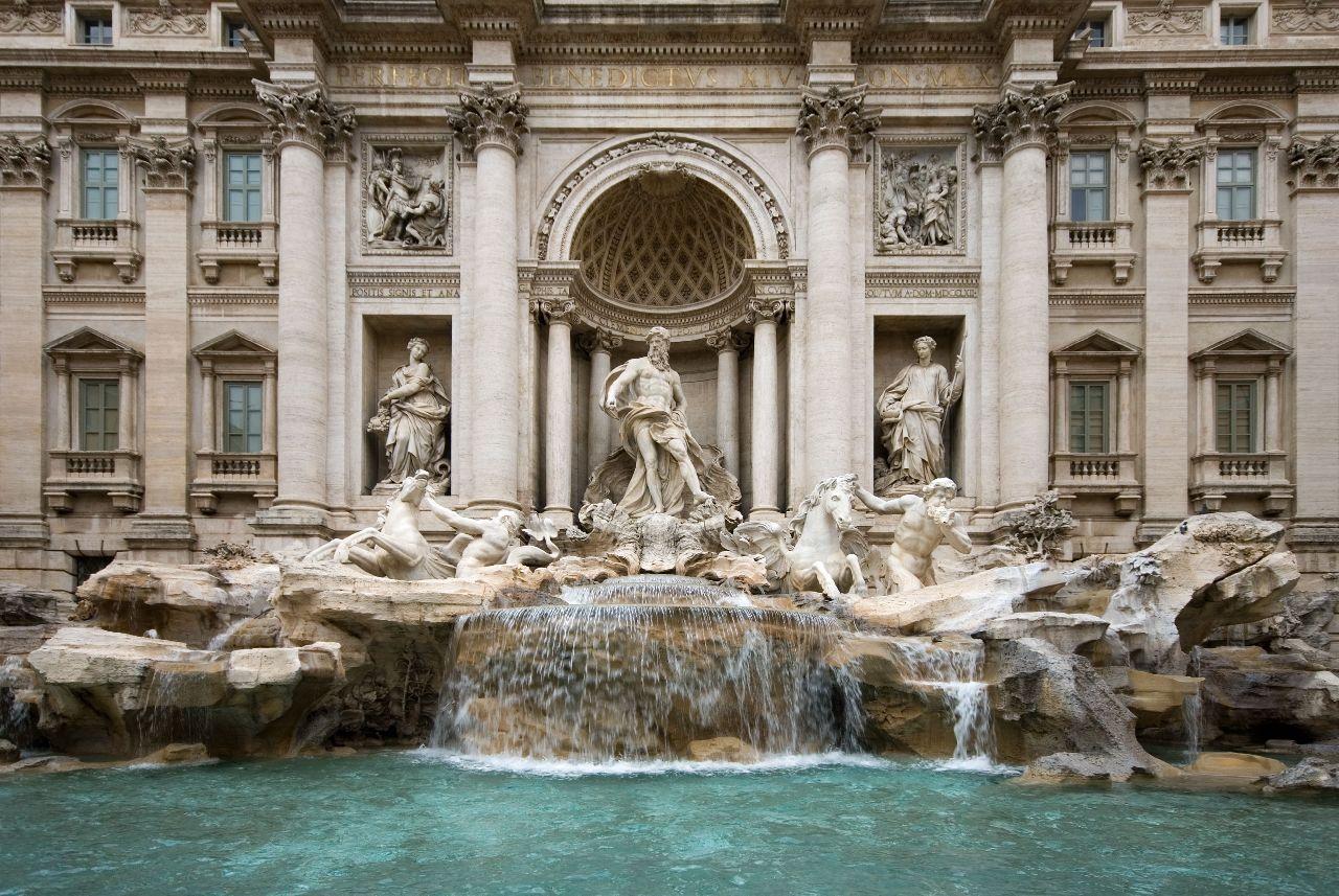 fontana di trevi, taliansko, rim, vecne mesto, poznavaci zajazd, letecky, autobusom, ck satur