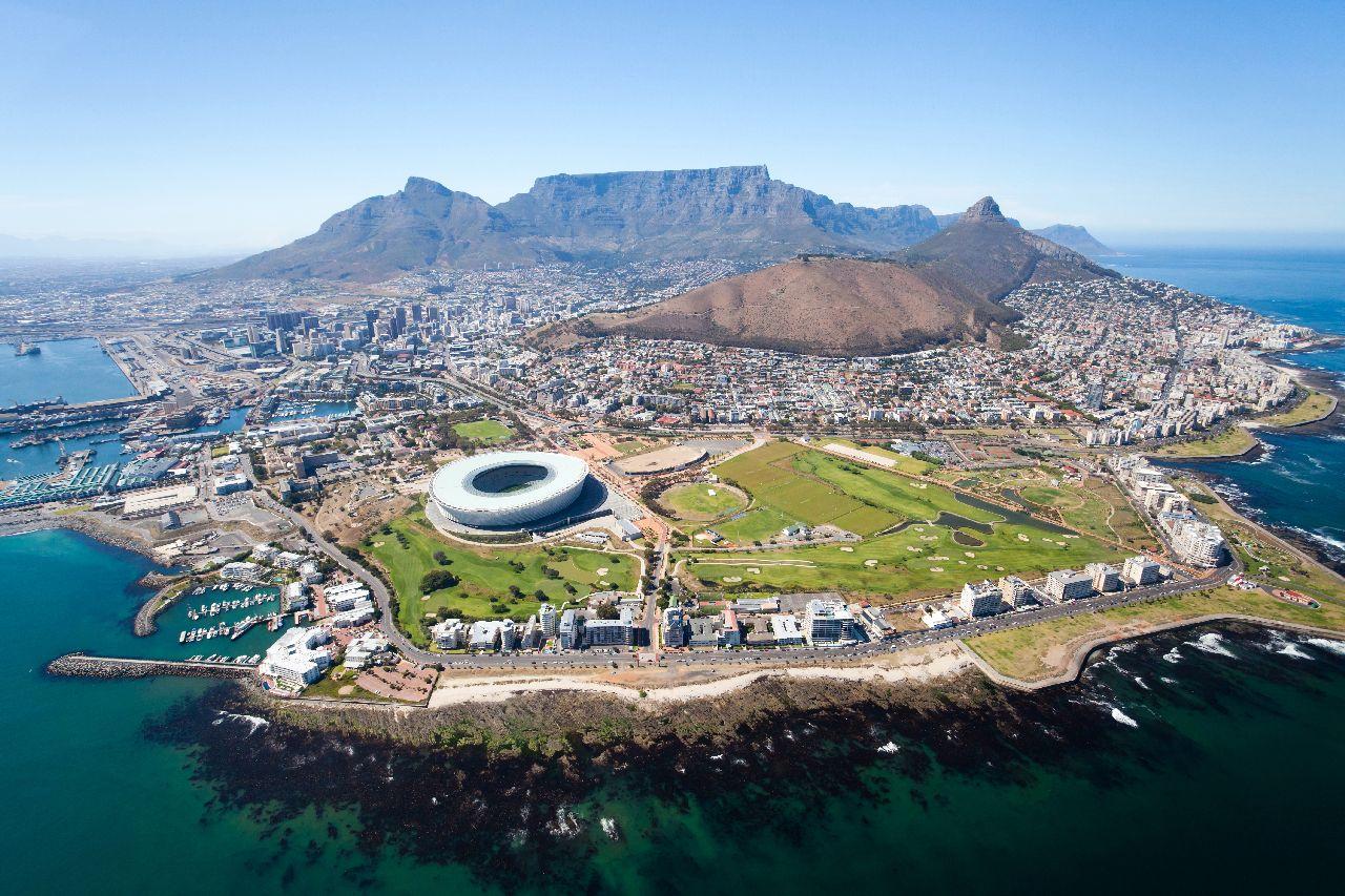 stolova hora a kapske mesto v juhoafrickej republike