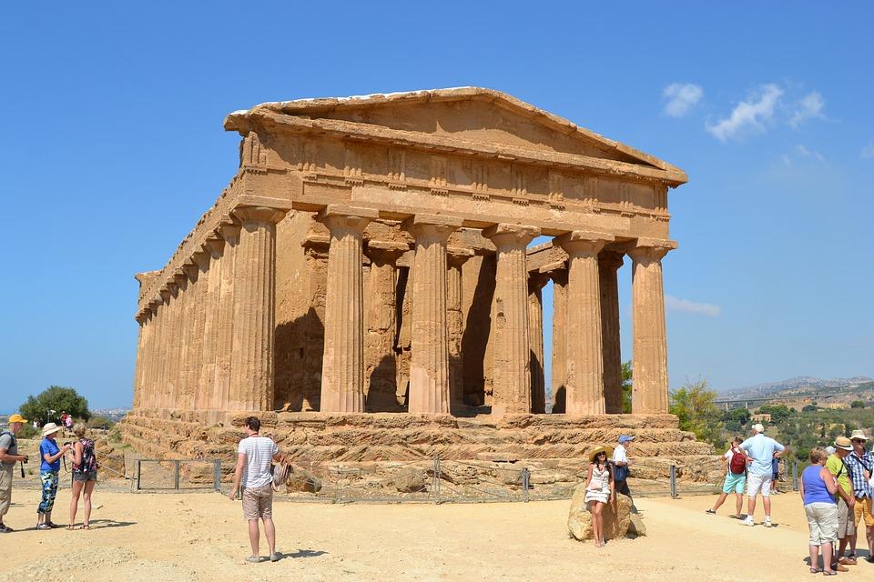 udolie chramov Agrigento na Sicilii