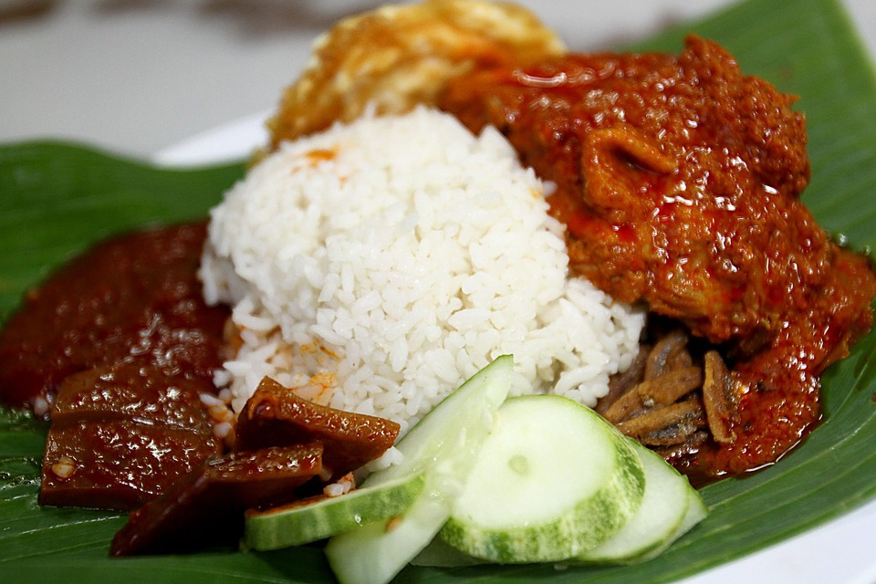 Nasi lemak jedlo v malajzii