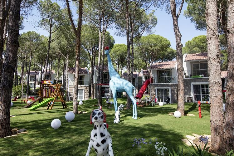 Zahrada tureckeho hotela selectum