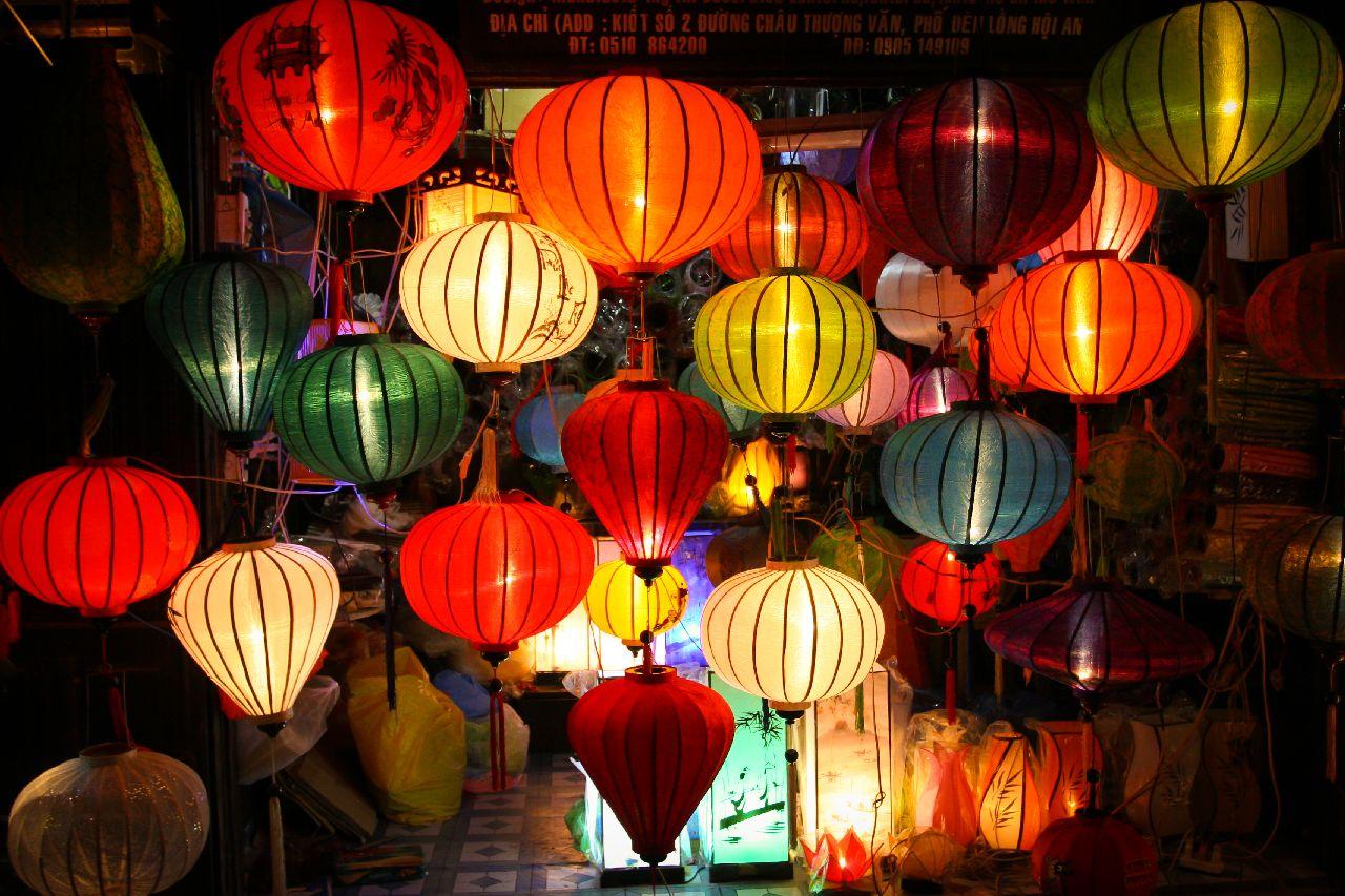 Mesto lampionov hoian vo vietname