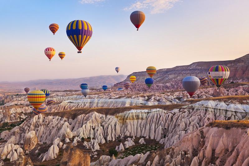 Balóny v tureckej oblasti cappadocia