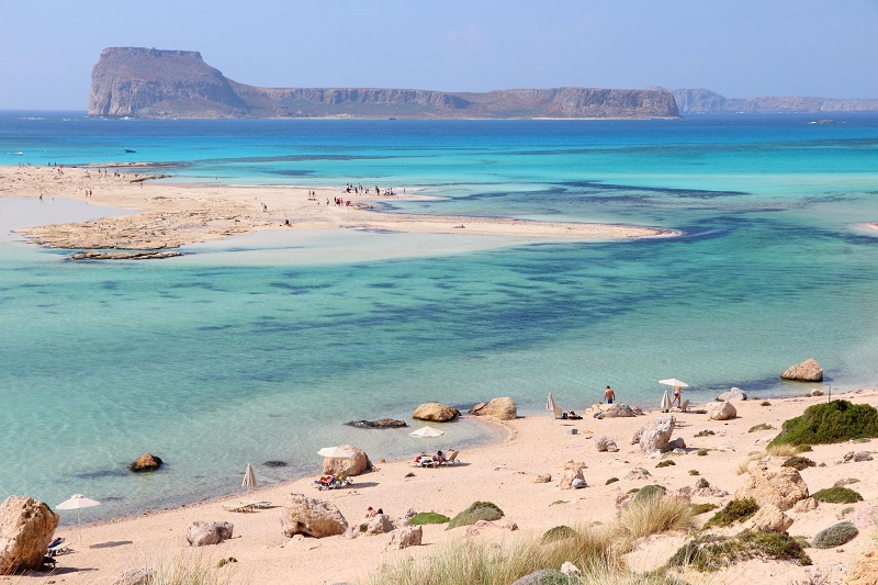Pláž balos na kréte