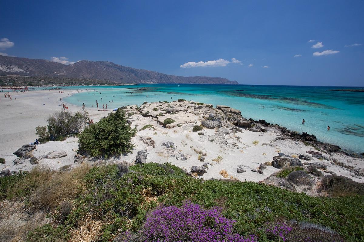 Pláž elafonsi na kréte