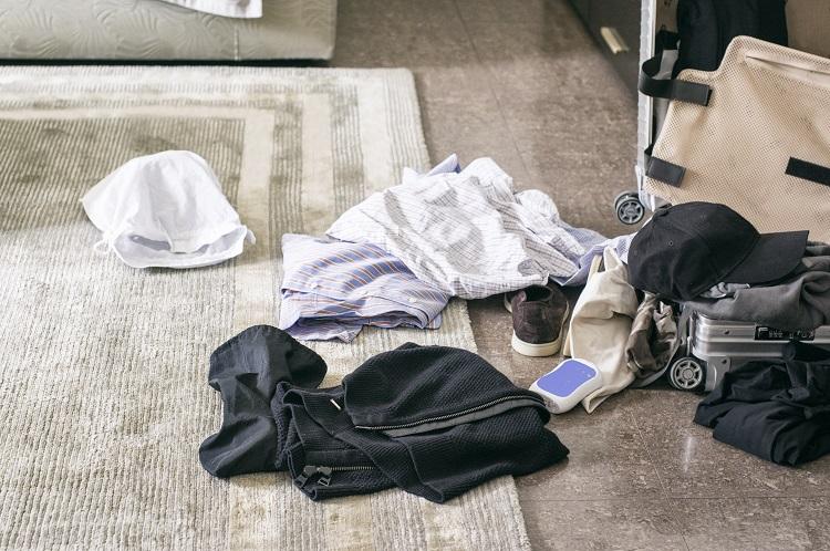 Neporiadok v hotelovej izbe
