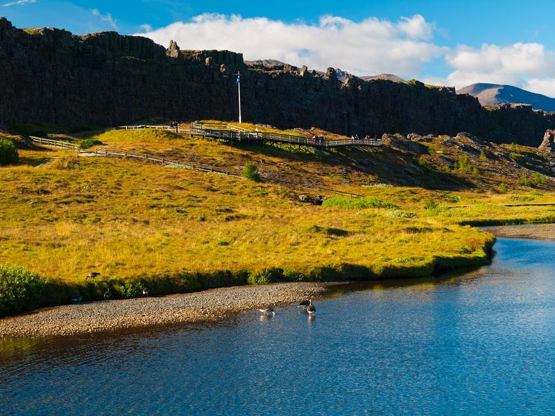 Národný park thingvellir na islande