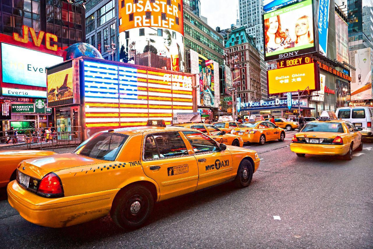 Žlté taxíky v new yorku