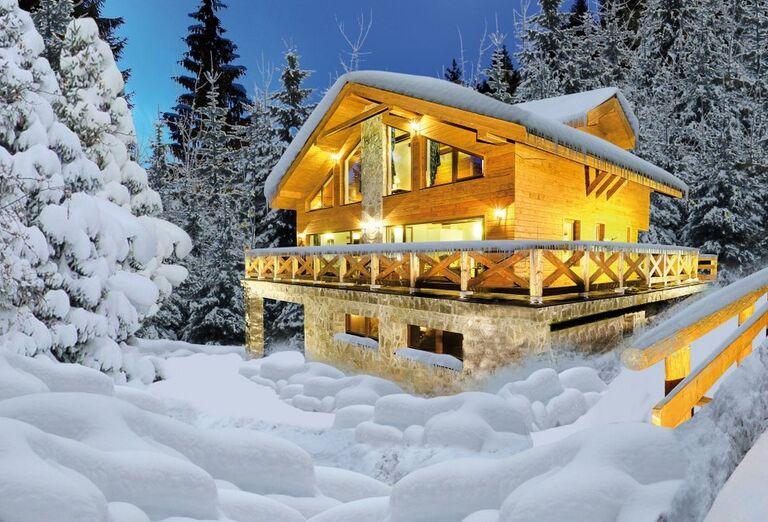 Apartmány Záhradky Chalets De Luxe v zime