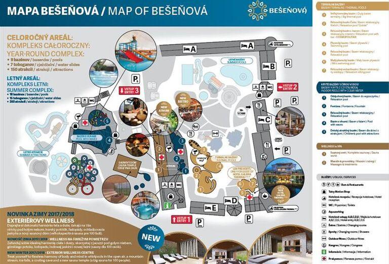 Mapa, Bešeňová, Gino Paradise